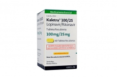 Kaletra 100 / 25 mg Caja Con Frasco Con 60 Tabletas Recubiertas Rx4 RX1