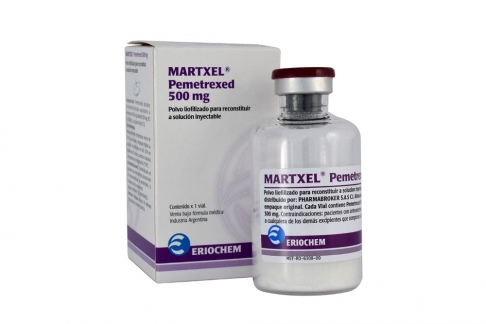 Martxel 500 mg Caja x 1 Frasco Vial Polvo Liofilizado Para Reconstituir Rx4
