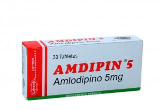 Amdipin 5 mg Caja Con 30 Tabletas Rx4