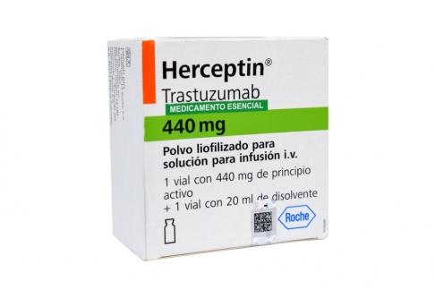 Herceptin Polvo Liofilizado Para Solución Para Infusión 440 mg Caja Con 1 Vial Rx1 Rx3