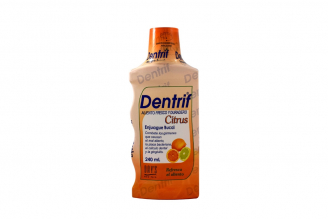 Dentrif Enjuague Bucal Frasco Con 240 mL - Sabor A Citrus