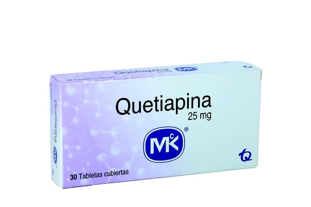 Quetiapina 25 mg Caja Con 30 Tabletas Cubiertas Rx4 RX1