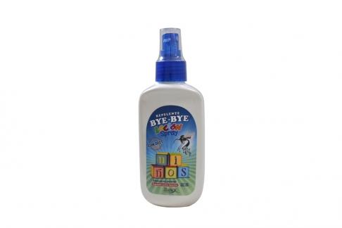 Bye – Bye Repelente Loción Spray Para Niños Frasco Con 120 mL
