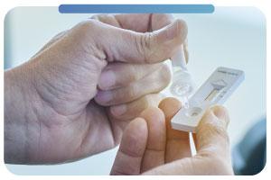 Prueba rápida de detección de antígenos